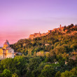 San Biagio cathedral at sunset - horizontal, Montepulciano, Italy — Stock Photo