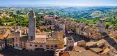 San Gimignano roof panorama, Tuscany, Italy — Stock Photo