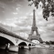 Eiffel tower monochrome square format — Stock Photo #10789367