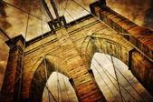 Brooklyn bridge vintage view — Stock Photo