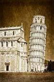 Leaning tower of Pisa vintage — Stock Photo