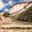 Potala buddhist temple in Lhasa, Tibet - Stock Photo