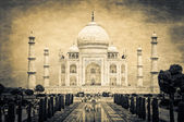 Taj Mahal vintage retro — Stock Photo