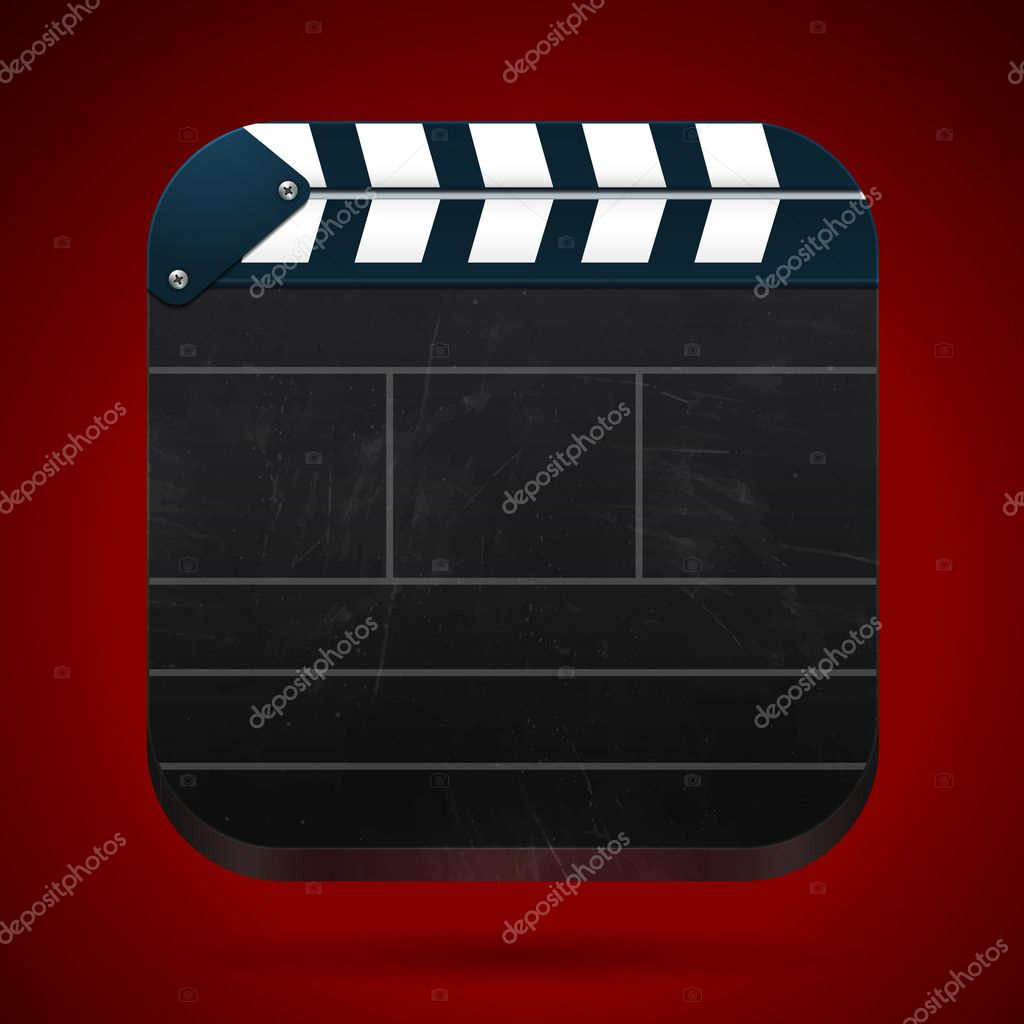 Film clap board cinema vector illustration. Eps 10. — Stock Vector #11536740
