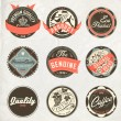 Vintage design retro labels - Stock Vector