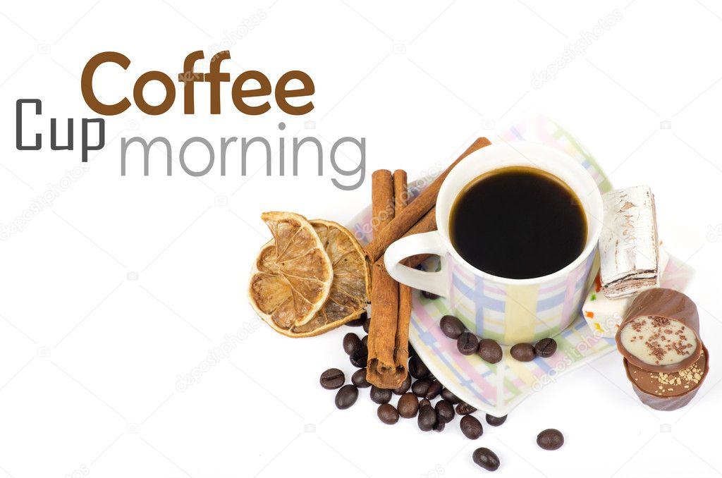 Cup of coffee on white — Stock Photo #10871733