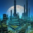 Fictional City Skyline — Stock Photo