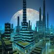 Fictional City Skyline — Stock Photo