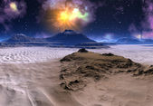 Alien Planet with — Stock Photo