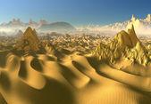 Desert - Fantasy Landscape — Stock Photo
