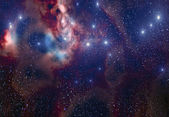 Stars and Nebulae Background — Stock Photo