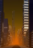 Modern City Skyline — Stockfoto