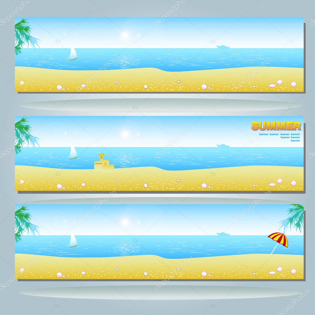 Beach Facebook Banner Summer Banner With Beach