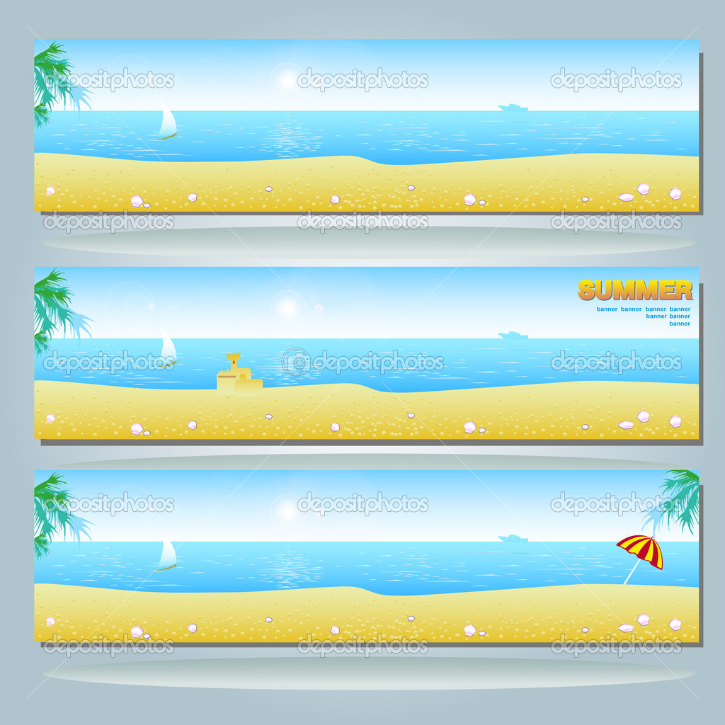 Beach Facebook Banners Summer Banner With Beach