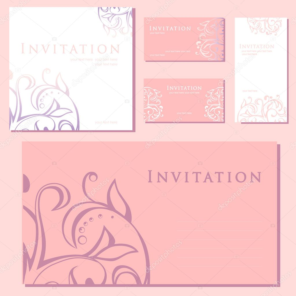 Wedding invitations  Stock Vector #11131252