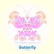 Abstract floral butterfly — Stock Vector