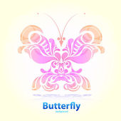 Abstract floral butterfly — Vector de stock