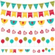 Bunting and garland set — Stock Vector #10943678