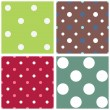 Polka dot seamless patterns — Stock Vector