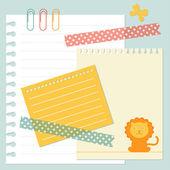 Paper set — Stock Vector