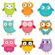Постер, плакат: Owls set