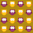 Seamless owls pattern — Stock Vector #11450049