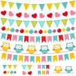 Bunting and garland set — Stock Vector #11450064