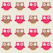 Seamless owls pattern — Stock Vector #11805732