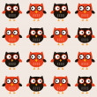 Seamless owls pattern — Stock Vector #11805802