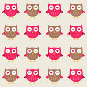 Seamless owls pattern — Stock Vector
