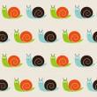 Seamless snails pattern — Stock Vector