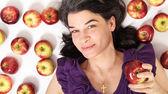 Donna con mele — Foto Stock