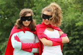 Super heros team — Stock Photo