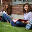 Student studying outside — Stock Photo