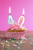 40 birthday cupcake — Stock Photo