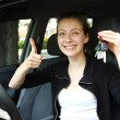 Proud teen driver - Stock Photo