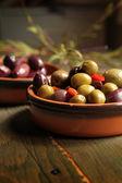 Variety of olives — Stock Photo