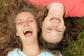 Glada tonåringar — Stockfoto