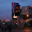 On the strip at dusk - Stock Photo
