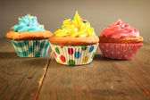 Three cupcakes — Stock Photo
