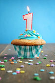 Birthday cupcake — Foto de Stock