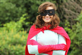 Smiling super hero girl — Stock Photo