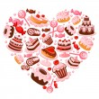Stock Vector: Candy heart