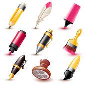 Pen icons — Stock Vector