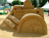 Sand sculpture (camera) — Stock Photo