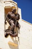 Estátua de guerreiro. — Foto Stock