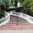Staircase with a white Railing — Stock Photo