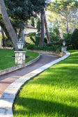 Walkway with Green Grass — Stock Photo