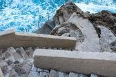 Enroulement des escaliers vers le bas pour océan sauvage — Photo