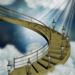 Stairway in the sky — Stock Photo